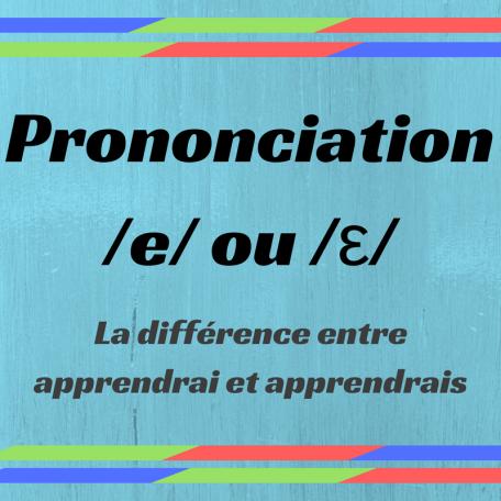 Découvrez la différence entre les sons /e/ et /ε/.