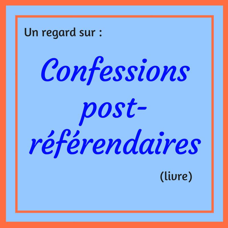 Découvrez ce qui s'est passé pendant le second référendum sur la souveraineté du Québec dans ce livre : Confessions post-référendaires