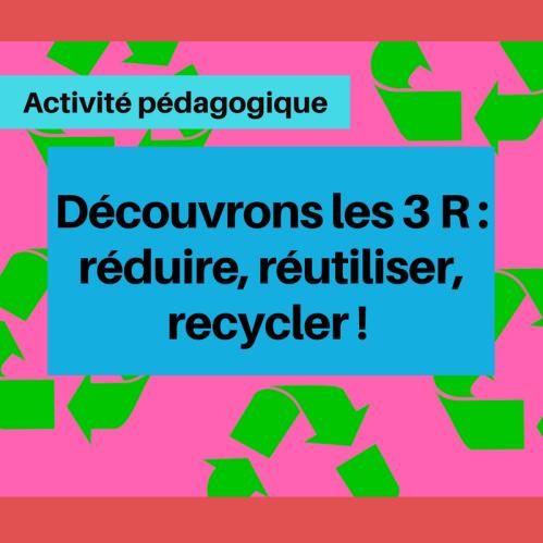 Faites découvrir des façons de réduire, réutiliser et recycler dans votre communauté avec cette activité !