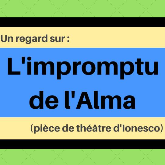 Découvrez cette critique des critiques dans le style insolite d'Ionesco : L'impromptu de l'Alma