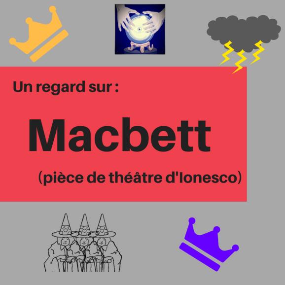 Découvrez cette adaptation sinistre de Macbeth écrit dans la façon singulière d'Eugène Ionesco ! : Macbett