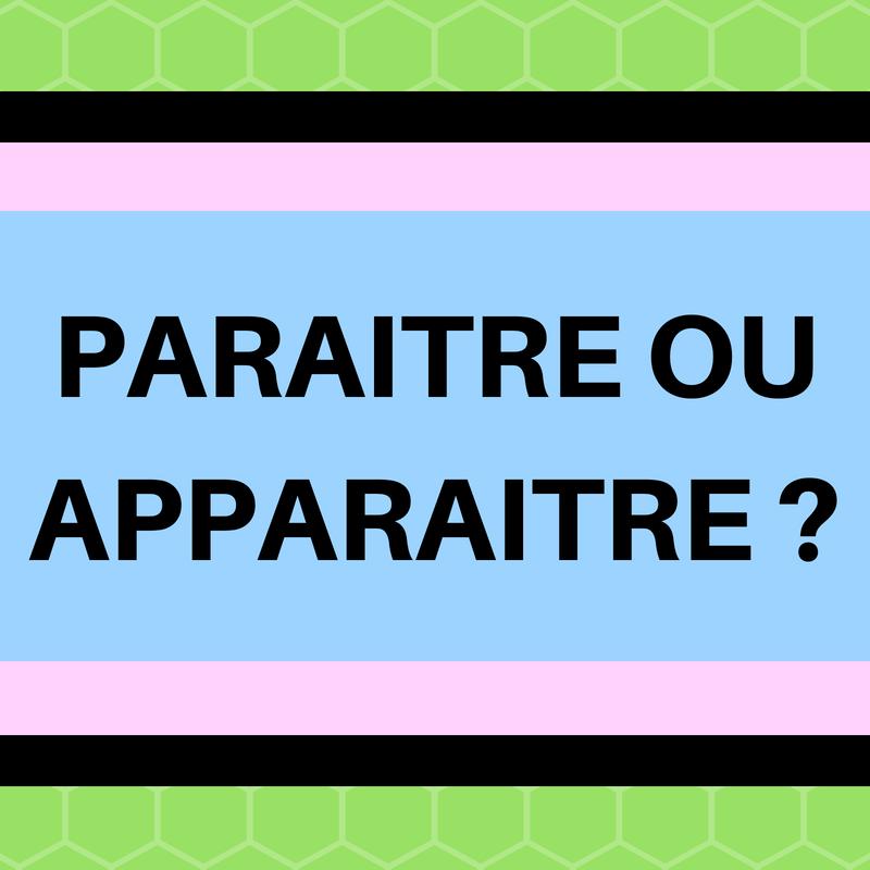 Apparaitre Ou Paraitre Regard Sur Le Francais