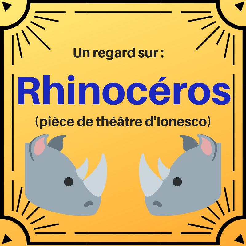 Découvrez une des pièces de théâtre les plus célèbres d'Ionesco : Rhinocéros