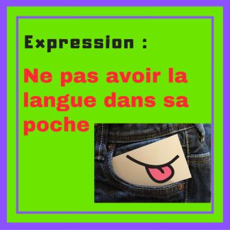 Avez-vous la langue dans votre poche ? Apprenez cette expression française !