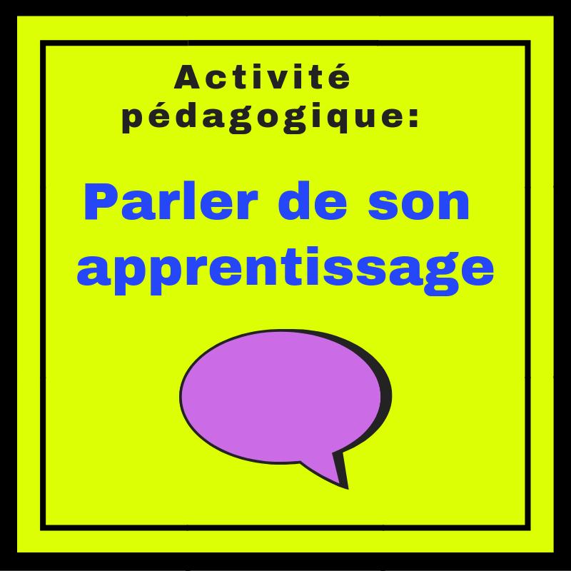Faire parler les élèves de leurs propres expériences d'apprentissage du français avec cette activité