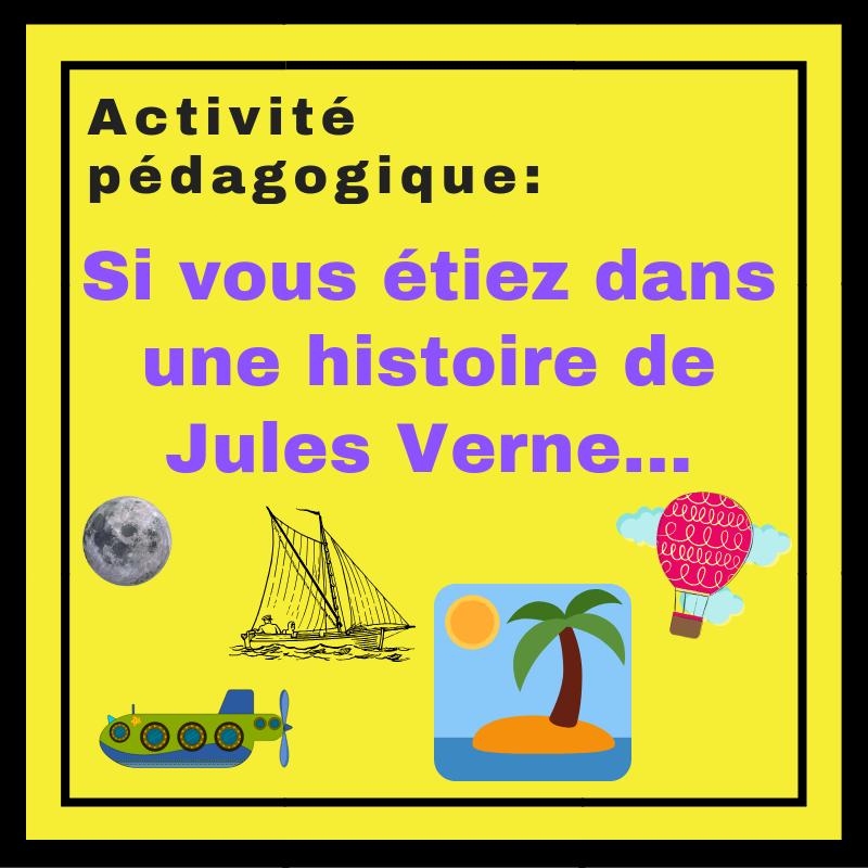 Les apprenants imaginent ce qu'ils feraient s'ils étaient dans une situation présentée dans un roman de Jules Verne !