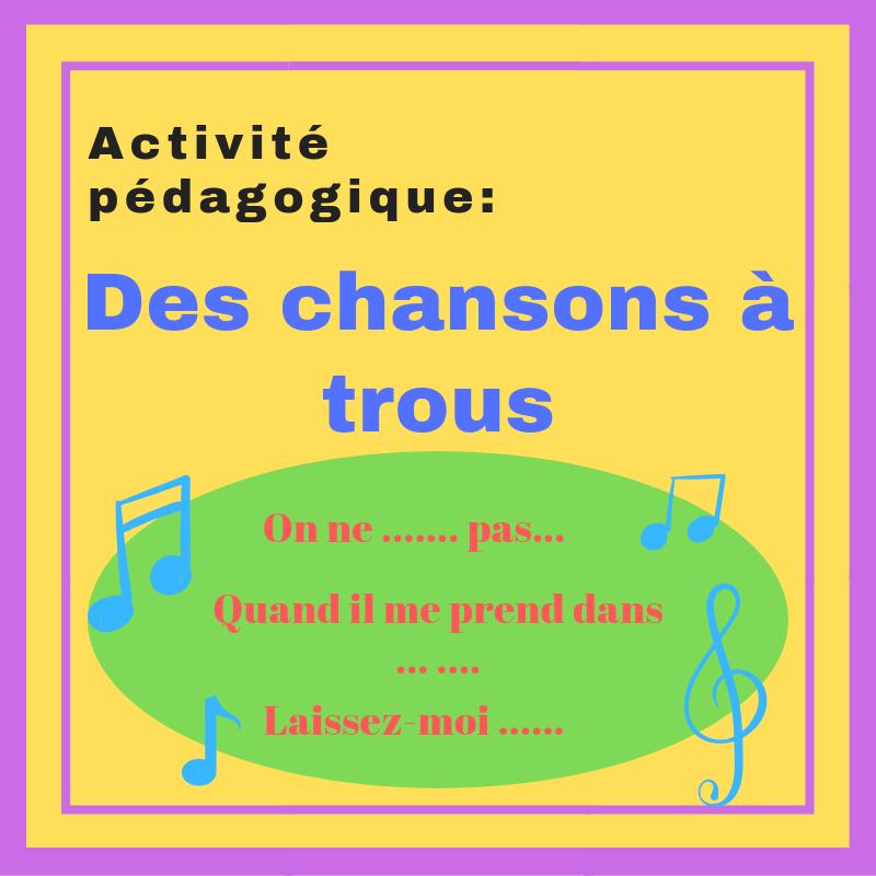 Faites découvrir des chansons francophones avec cette activité ludique !